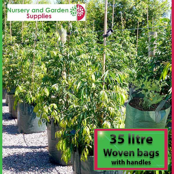 35 litre woven planter bag tree bag at Nursery and Garden Supplies NZ - for more info go to nurseryandgardensupplies.co.nz