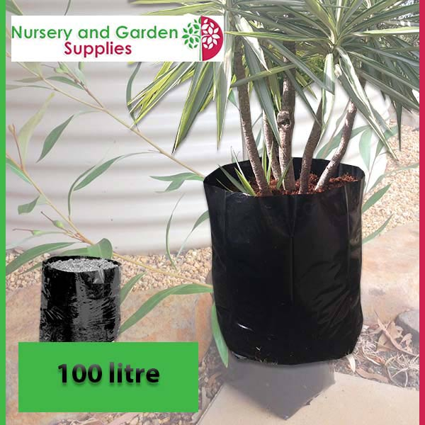 100 litre Poly Planter Bags at Nursery and Garden Supplies NZ - for more info go to nurseryandgardensupplies.co.nz
