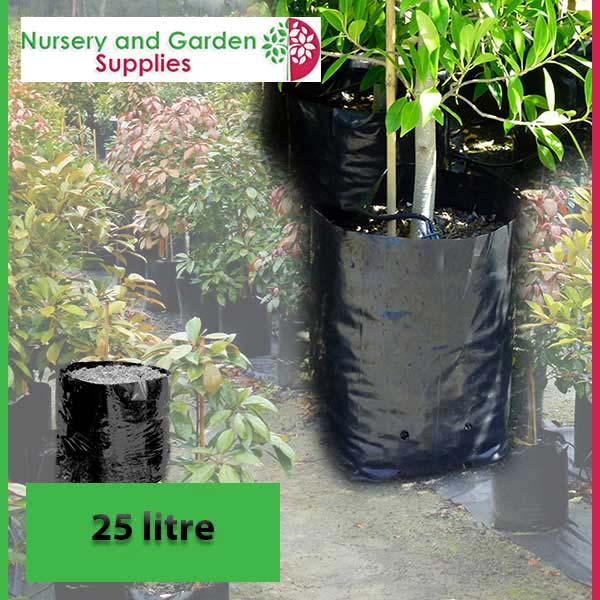 25 litre Poly Planter Bags PB40 at Nursery and Garden Supplies NZ - for more info go to nurseryandgardensupplies.co.nz