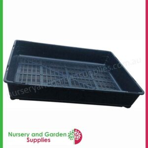 Seedling Tray Restricted Drainage - for more info go to https://nurseryandgardensupplies.co.nz/product/seedling-tray-restricted-drainage/