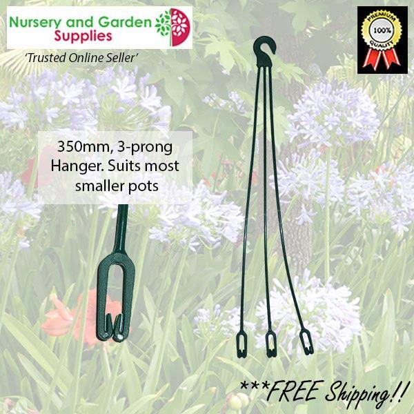 350mm Clip hanger Green at Nursery and Garden Supplies NZ - for more info go to nurseryandgardensupplies.co.nz