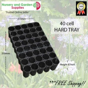 40 cell Hard Plastic Seedling Tray - for more info go to nurseryandgardensupplies.co.nz