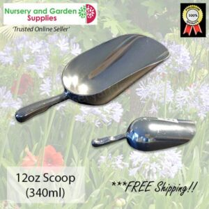 160mm Potting Scoop 12oz ALUMINIUM - for more go to nurseryandgardensupplies.co.nz