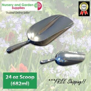 200mm Potting Scoop 24oz ALUMINIUM - for more go to nurseryandgardensupplies.co.nz