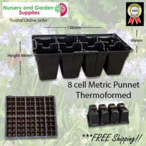 8 cell Thermoformed Seedling Punnet Metric at Nursery and Garden Supplies NZ - for more info go to nurseryandgardensupplies.co.nz