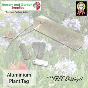 Aluminium Plant Tag Label with Tie at Nursery and Garden Supplies NZ - for more info go to nurseryandgardensupplies.co.nz