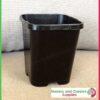 85mm Square plant pot black - for more info go to nurseryandgardensupplies.co.nz