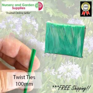 Twist Tie 100mm- for more go to nurseryandgardensupplies.co.nz