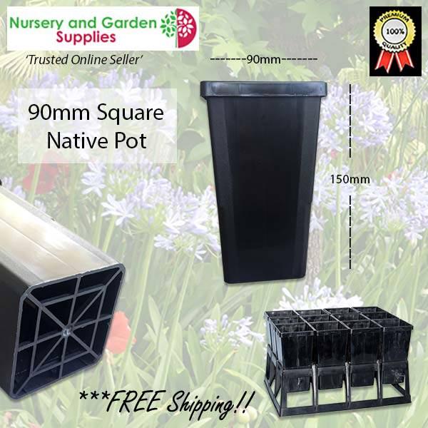 90mm Square Native Pot