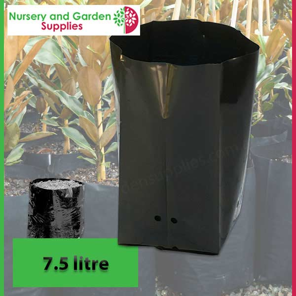 7.5 litre Poly Planter Bags PB12 at Nursery and Garden Supplies NZ - for more info go to nurseryandgardensupplies.co.nz