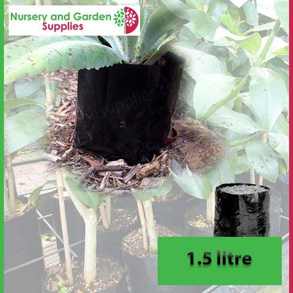 1.5 litre Poly Planter Bags PB2 at Nursery and Garden Supplies NZ - for more info go to nurseryandgardensupplies.co.nz