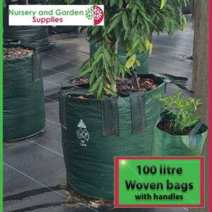 100 litre woven planter bag tree bag at Nursery and Garden Supplies NZ - for more info go to nurseryandgardensupplies.co.nz