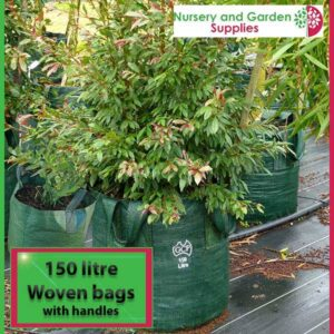150 litre woven planter bag tree bag at Nursery and Garden Supplies NZ - for more info go to nurseryandgardensupplies.co.nz