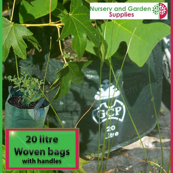 20 litre woven planter bag tree bag at Nursery and Garden Supplies NZ - for more info go to nurseryandgardensupplies.co.nz