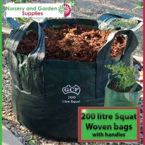 200 litre Squat woven planter bag tree bag at Nursery and Garden Supplies NZ - for more info go to nurseryandgardensupplies.co.nz