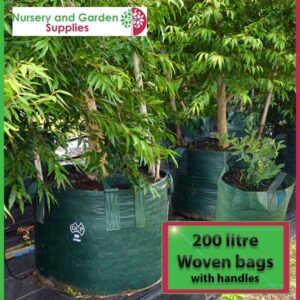 200 litre woven planter bag tree bag at Nursery and Garden Supplies NZ - for more info go to nurseryandgardensupplies.co.nz