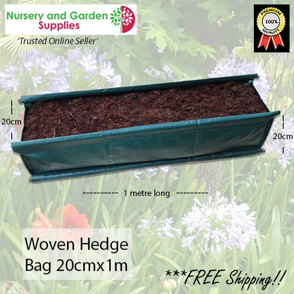 40 litre Woven Hedge Planter Bags at Nursery and Garden Supplies NZ - for more info go to nurseryandgardensupplies.co.nz