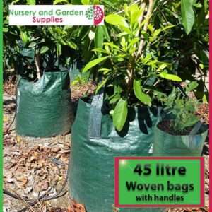 45 litre woven planter bag tree bag at Nursery and Garden Supplies NZ - for more info go to nurseryandgardensupplies.co.nz