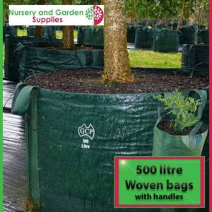 500 litre woven planter bag tree bag at Nursery and Garden Supplies NZ - for more info go to nurseryandgardensupplies.co.nz