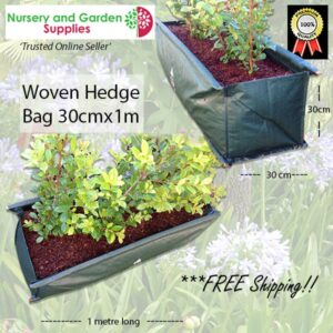 90 litre Woven Hedge Planter Bags at Nursery and Garden Supplies NZ - for more info go to nurseryandgardensupplies.co.nz