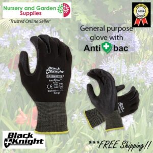 Weeding Potting Black Hi Grip Gardening Glove Anti-Bac - for more info go to nurseryandgardensupplies.co.nz