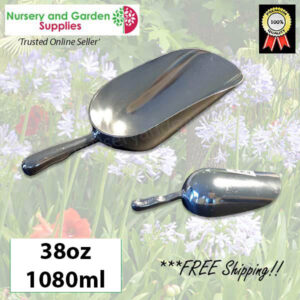 230mm Potting Scoop 38oz ALUMINIUM - for more go to nurseryandgardensupplies.co.nz