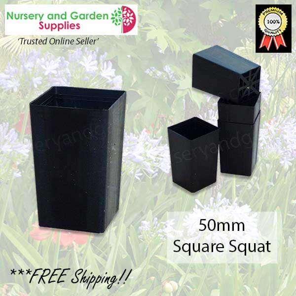 50mm Square Squat tube