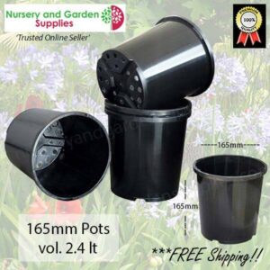165mm Plant Pot Black