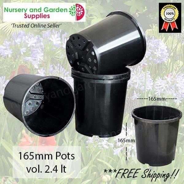 165mm Plant Pot Black