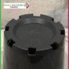 180mm Slimline Pot Black