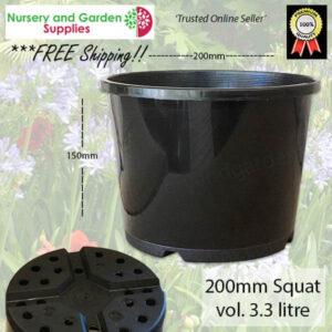 200mm Squat Plant Pot