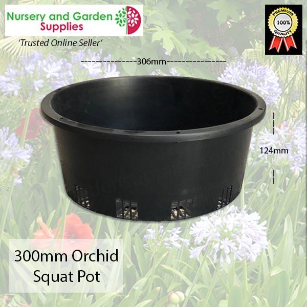 300mm ORCHID Squat Pot Heavy Duty