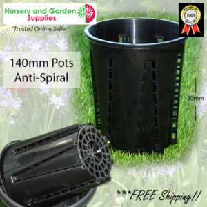 143mm Plastic Anti-Spiral Pot (140mm)