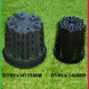 143mm Plastic Anti-Spiral Pot (140mm)