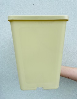 183mm Square Deep Pot Cream