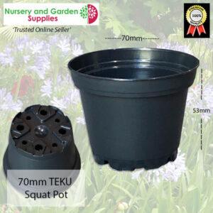 70mm Squat Pot Black
