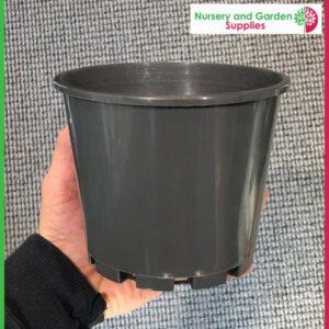 140mm Squat Plant Pot Charcoal