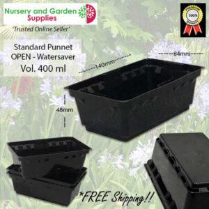 Open Standard Punnet Black